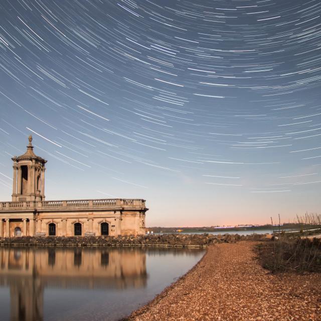 """Normanton Star Trails"" stock image"