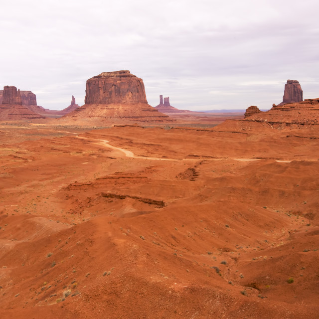 """""""A view of Monument Valley, USA"""" stock image"""