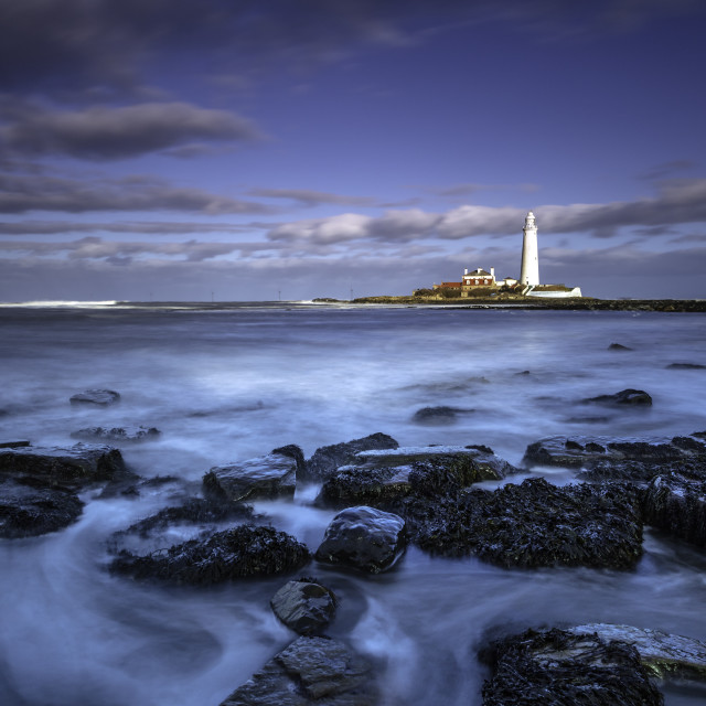 """""""St Mary's Lighthouse Whitley Bay"""" stock image"""