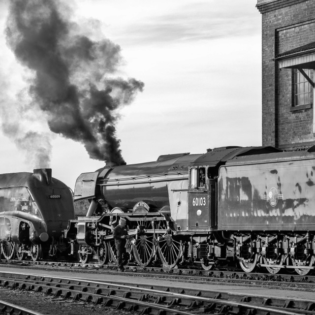 """""""The Flying Scotsman and Union of South Africa"""" stock image"""