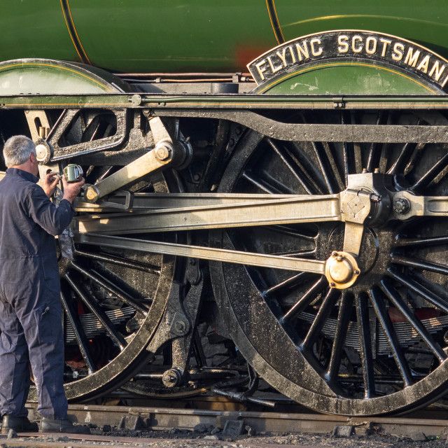 """""""Oiling the Scotsman"""" stock image"""