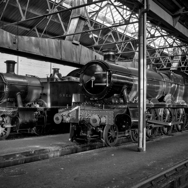 """""""Great Western Shed"""" stock image"""