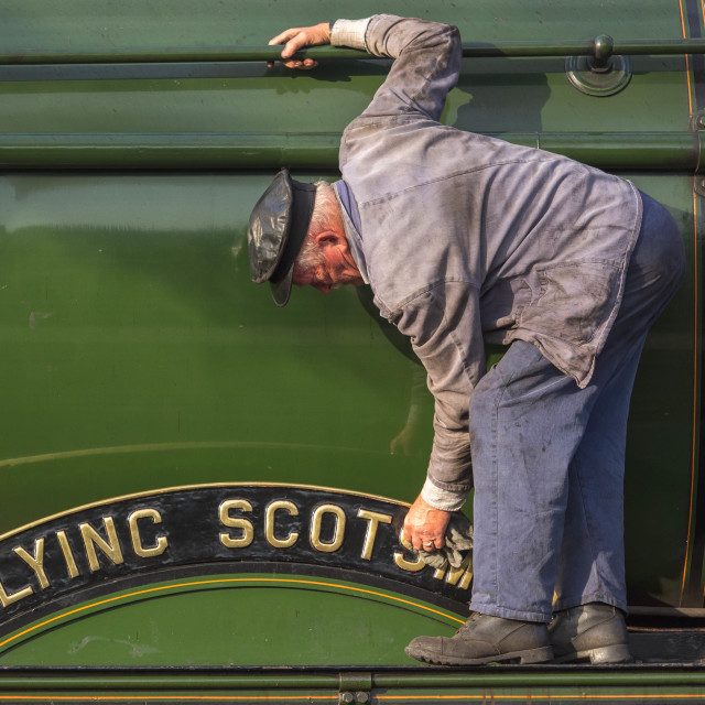 """""""Cleaning the Scotsman"""" stock image"""