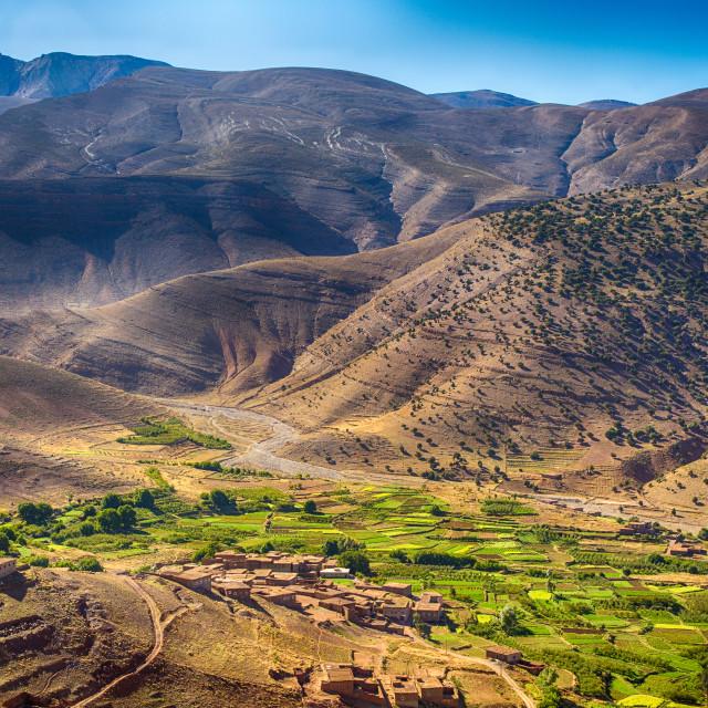 """High Atlas Mountain Village"" stock image"