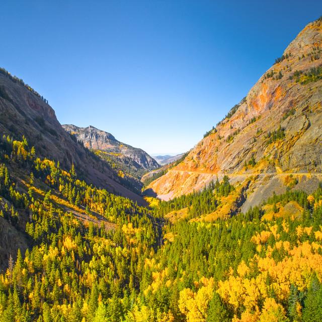"""""""Million Dollar Highway Mountain Pass"""" stock image"""
