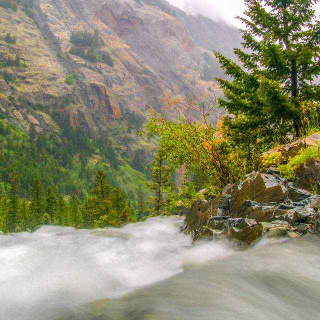 """""""River Running Over The Edge"""" stock image"""