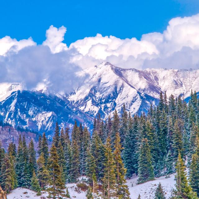"""Snow Capped San Juan Mountains"" stock image"
