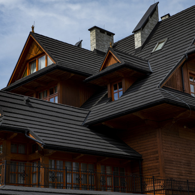 """""""traditional highlander house in the Tatra Mountains"""" stock image"""