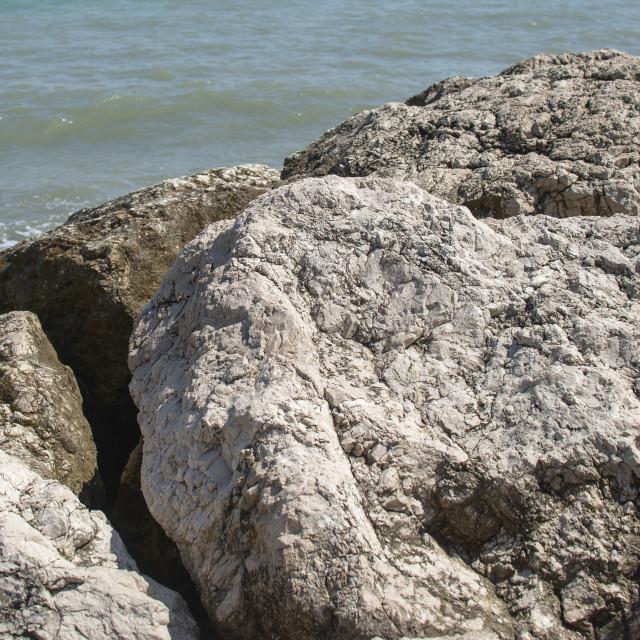 """""""stony coast by the sea"""" stock image"""