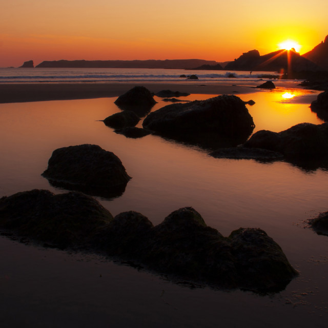 """Albion sunset"" stock image"