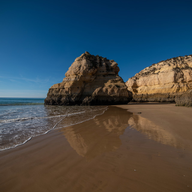 """Low Tide at Praia Da Rocha"" stock image"