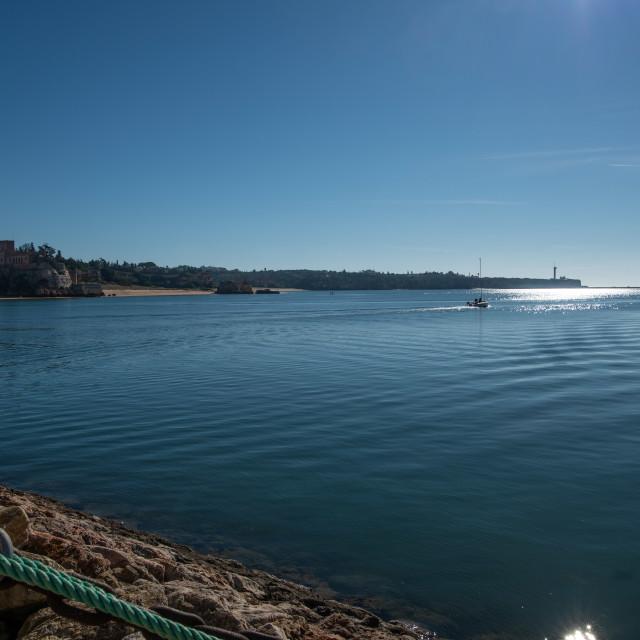 """Praia Da Rocha Marina Channel"" stock image"