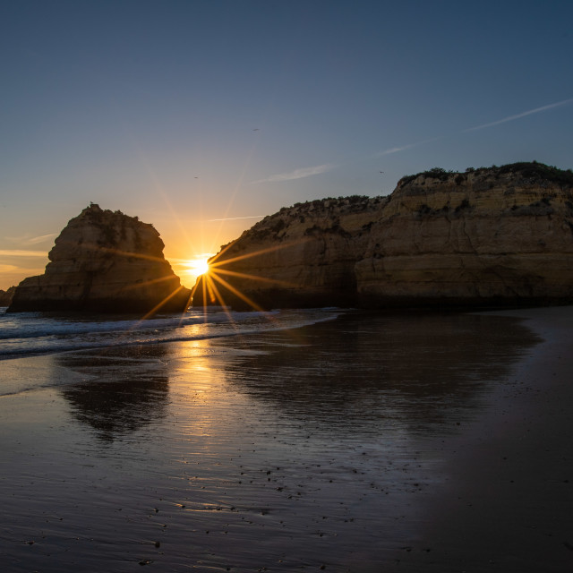 """Sunset View Praia Da Rocha"" stock image"