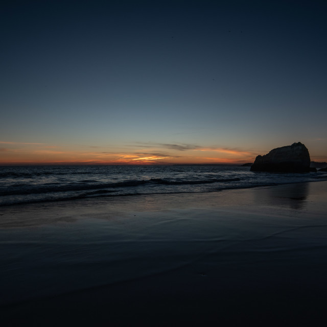 """Last Light Praia Da Rocha Beach"" stock image"