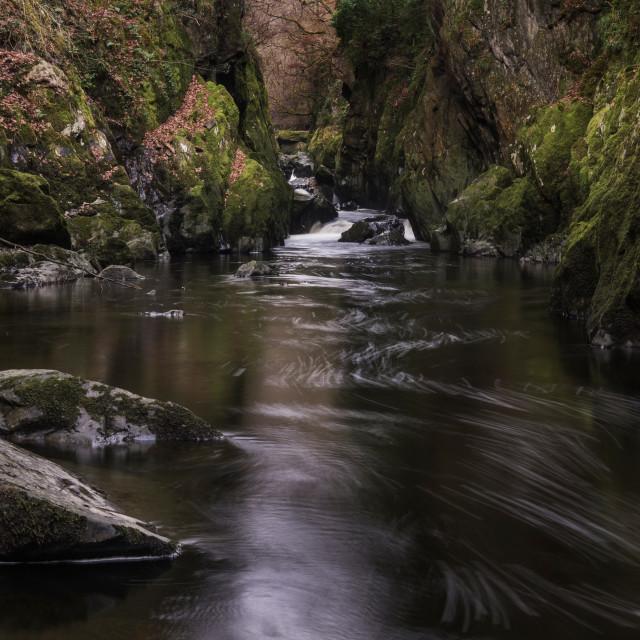 """Fairy Glen, Snowdonia"" stock image"