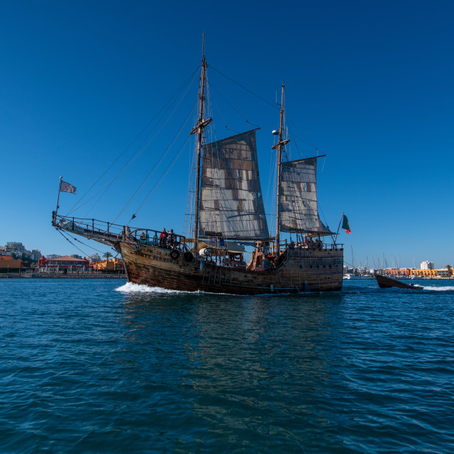 """Galleon Pirate Ship of Portimao"" stock image"