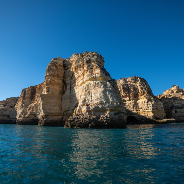 """Elephant Cliffs of Benagil Algarve"" stock image"