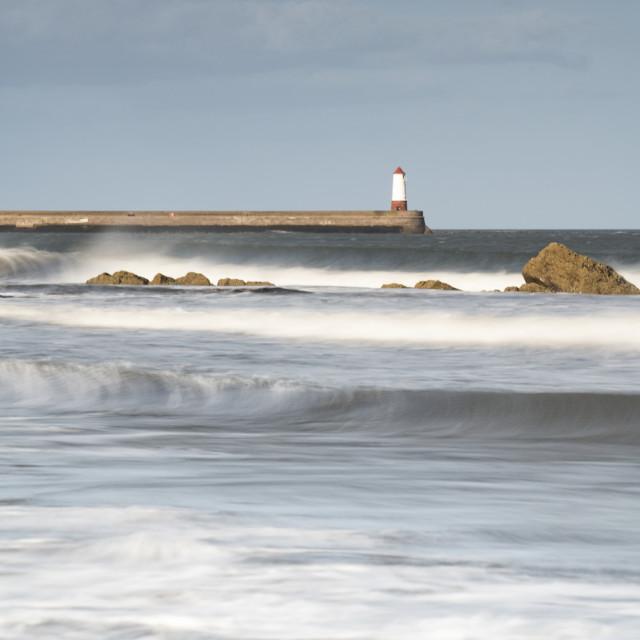 """""""Spittle Lighthouse Northumberland"""" stock image"""