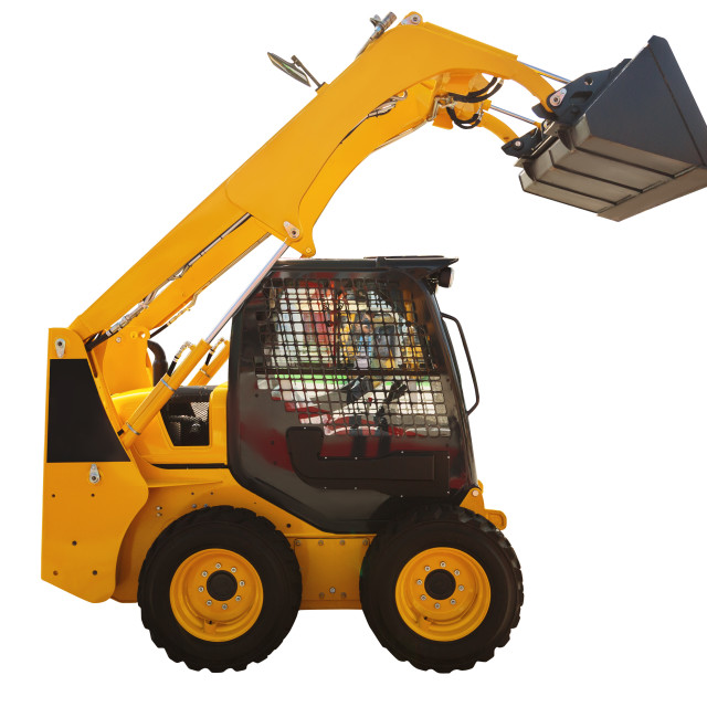 """""""Loader excavator construction machinery isolated with clipping"""" stock image"""