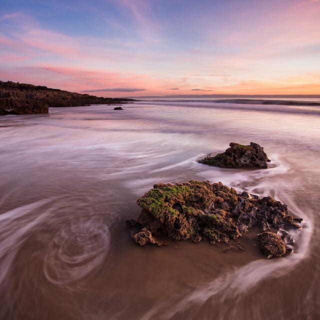 """""""Porthcawl sunset"""" stock image"""