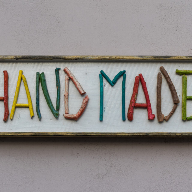 """Hand made sign"" stock image"