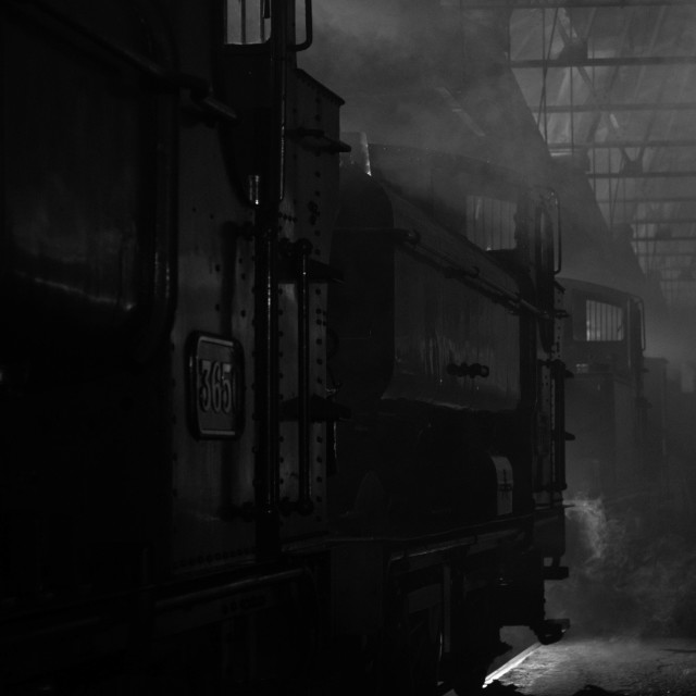 """Engine Shed"" stock image"