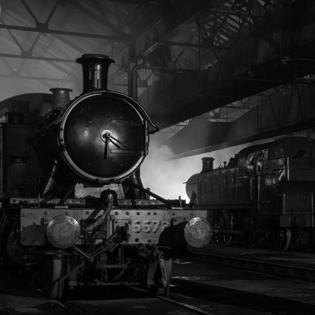 """Great Western Locomotive"" stock image"