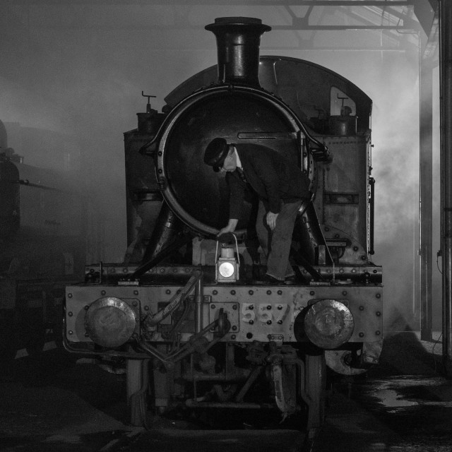 """""""GWR Locomotive on Shed"""" stock image"""