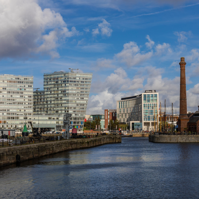"""Canning Dock, Livepool"" stock image"