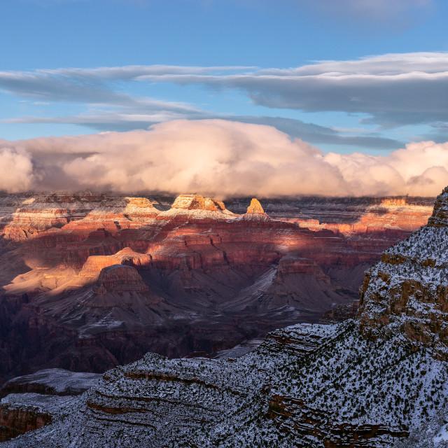 """Grand Canyon winter sunset"" stock image"