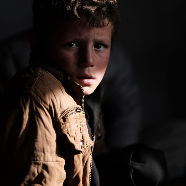 """The Boy in the Shadows #2"" stock image"