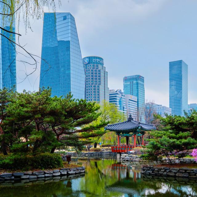 """Yeouido Park in Seoul, Korea"" stock image"