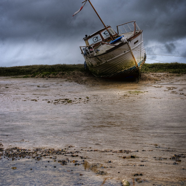 """Hulks on the river Adur"" stock image"