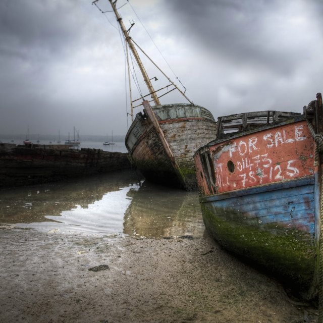 """Pin Mill Hulks"" stock image"