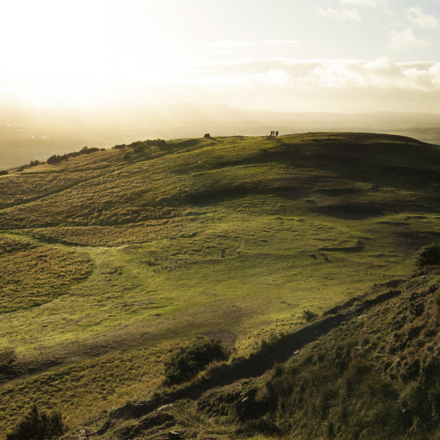"""""""View from Arthur's Seat"""" stock image"""