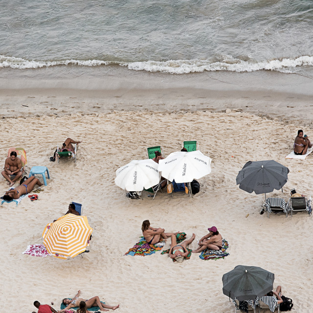 """relax on Copacabana"" stock image"