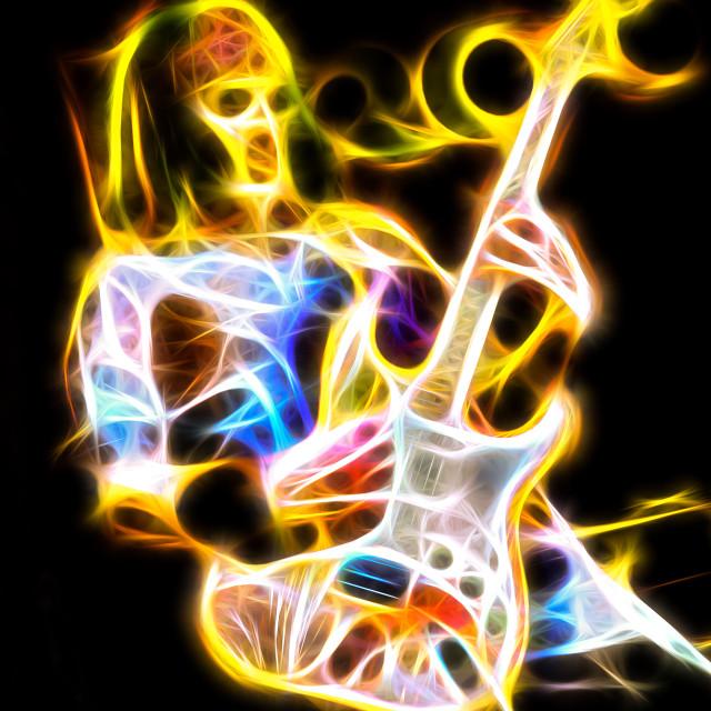 """phantom guitarist"" stock image"