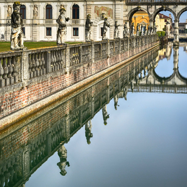 """Reflections on the water canal"" stock image"