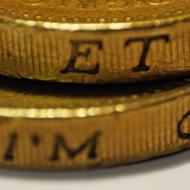 """British One Pound Coin - Super Macro"" stock image"