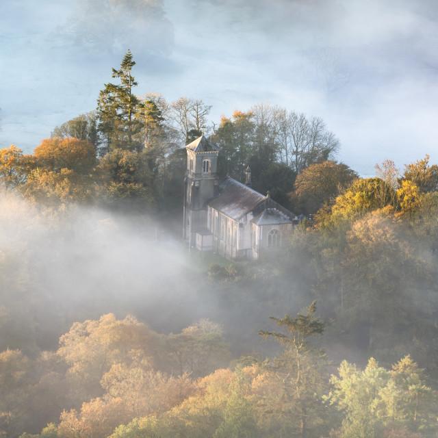 """""""Ambleside misty sunrise"""" stock image"""