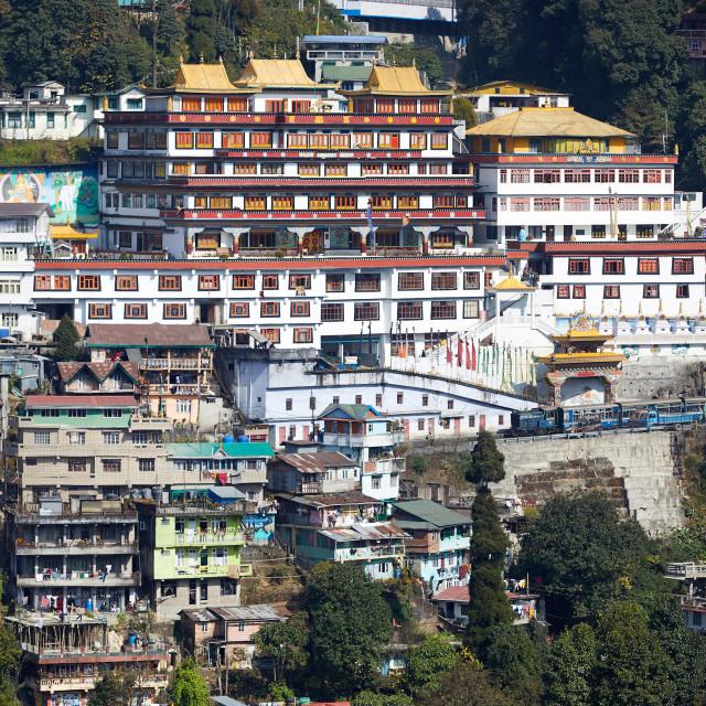 """The Darjeeling Himalayan Railway. The UNESCO World Heritage site is often..."" stock image"