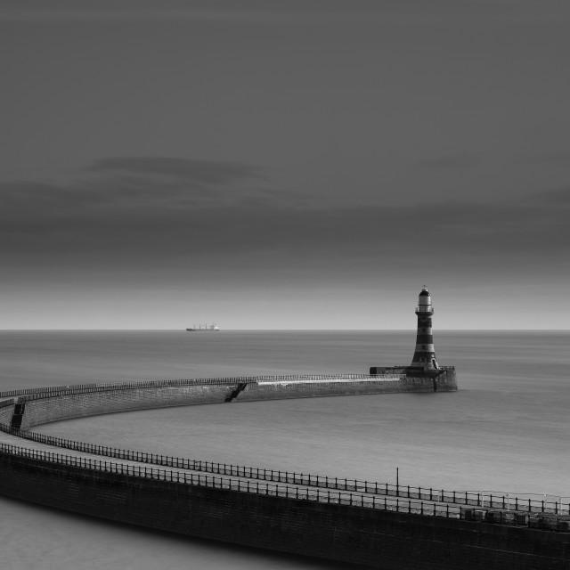 """""""Roker Pier, Sunderland, England"""" stock image"""