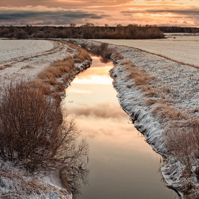 """""""Tiny River By The Fields"""" stock image"""