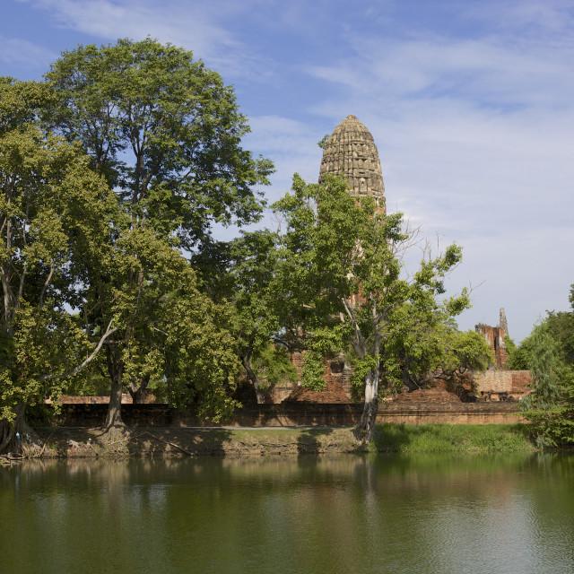 """UNESCO world Heritage site - Wat Phra Ram, Ayutthaya, Thailand"" stock image"