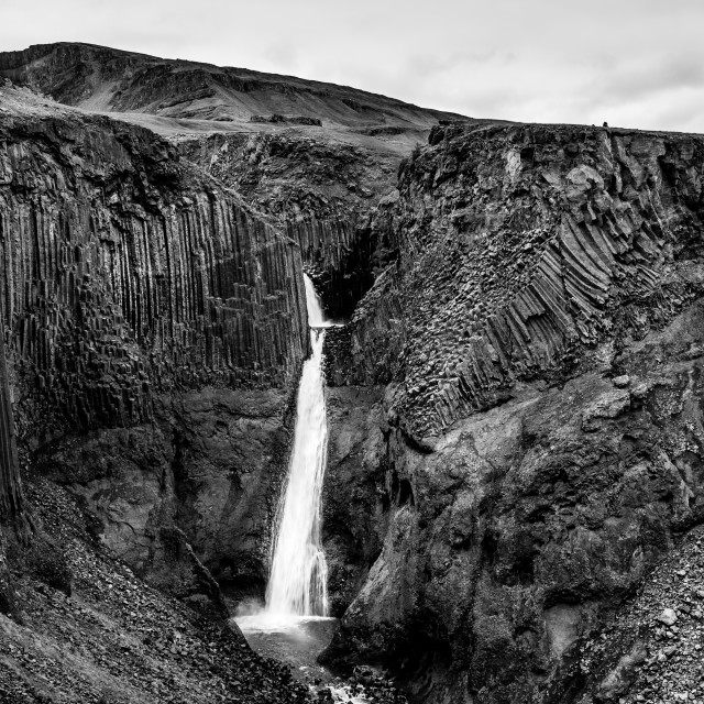 """Litlanesfoss - Iceland"" stock image"