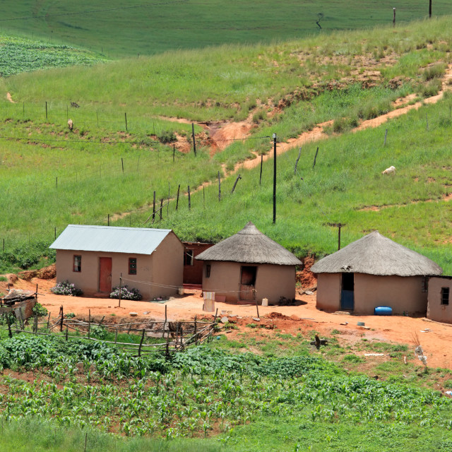 """Rural settlement - South Africa"" stock image"