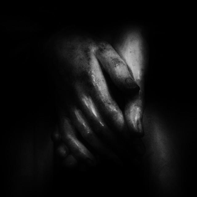 """""""Angel Hands Dark"""" stock image"""