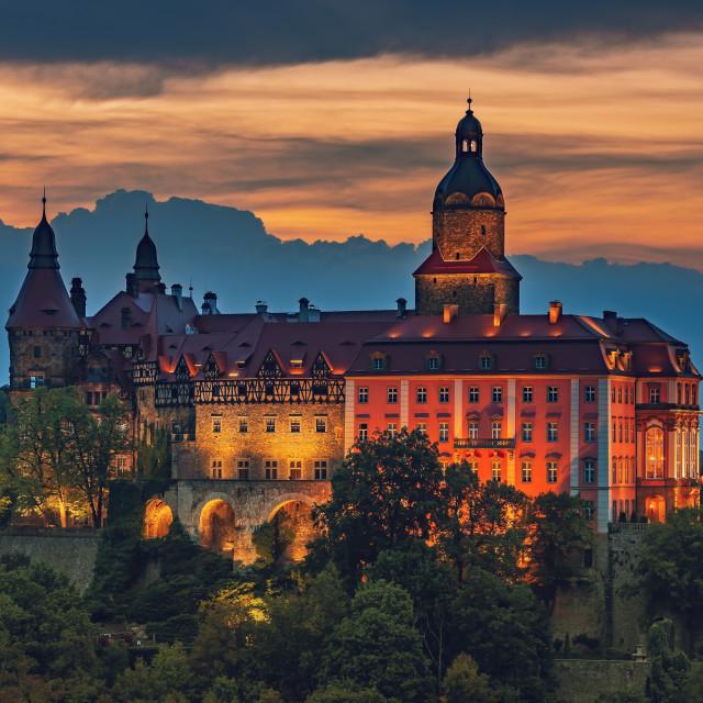 """""""Ksiaz Castle - Poland, Europe"""" stock image"""