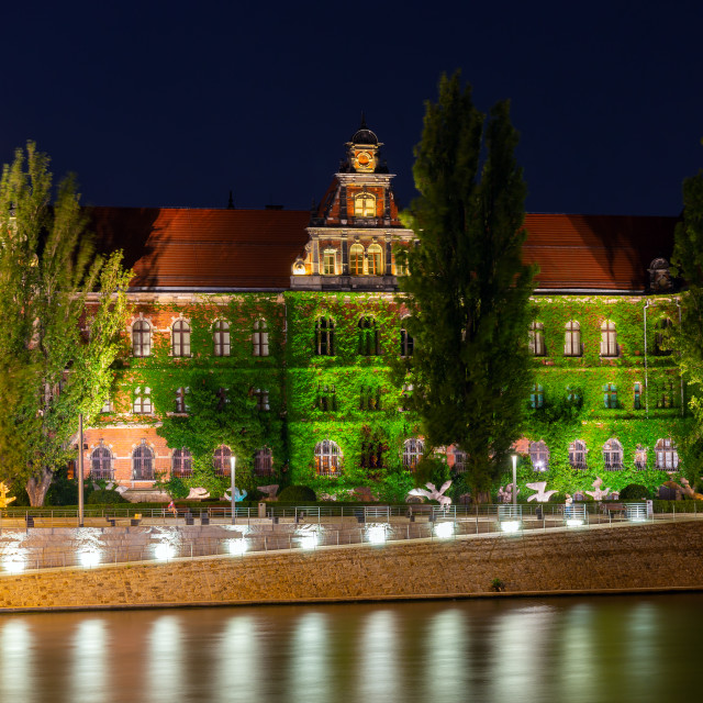 """""""Wroclaw city at night, Poland, Europe"""" stock image"""