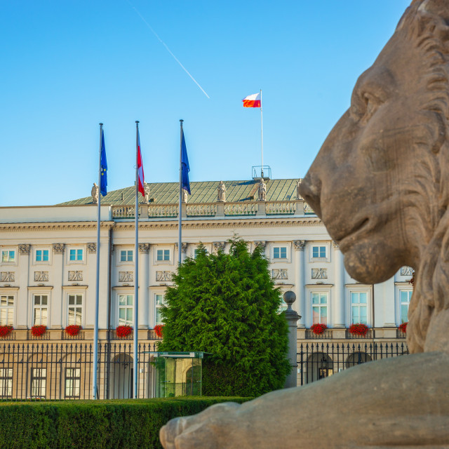 """""""Presidential palace, City Center of Warsaw, Poland"""" stock image"""